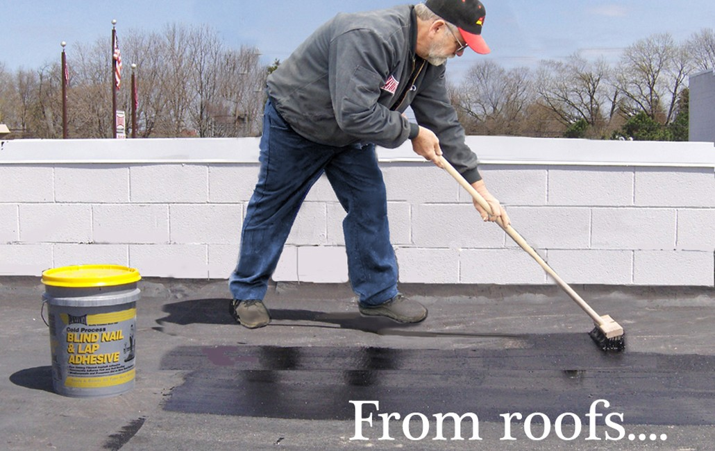 roof-adhesive-application