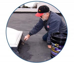 roof-cement-application